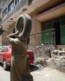 Kairo-Müllmann Stockfoto