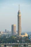 Kairo-Turm an der Dämmerung Lizenzfreie Stockfotografie