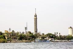 Kairo-Turm, Kairo auf dem Nil in Ägypten Stockbilder