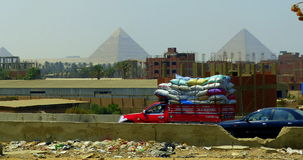 Kairo und Pyramiden Lizenzfreies Stockbild