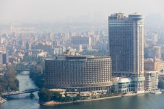 Kairo von der Spitze Stockbild