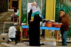 Kairodragningar Egypten Afrika Fotografering för Bildbyråer