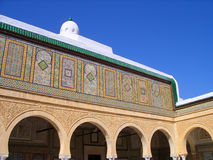 Kairouan Arches and Faience Wall Mosaics Royalty Free Stock Photo