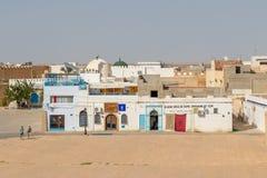 Kairouan is het vierde de meeste heilige stad van het Moslimgeloof, Tunesië stock afbeeldingen