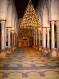 Kairouan Mihrab och bönrum arkivbilder