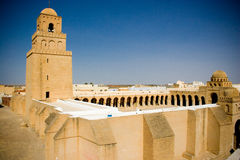 Kairouan mosque. The big mosque in Kairouan, the fourth holy city in the world Royalty Free Stock Images