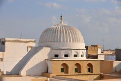 Kairouan mosque. The big mosque in Kairouan, the fourth holy city in the world Royalty Free Stock Photos