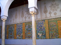 Kairouan Mosque Faience Mosaic Detail Stock Image