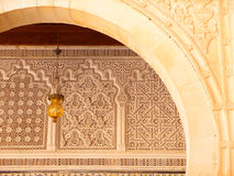 Kairouan Ornate Archway and Carvings Detail Royalty Free Stock Photography