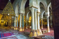View of the Great Mosque in Kairouan, Tunisia royalty free stock photos