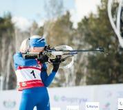 Kaisa MAKARAINEN (FIN) on a firing line at Biathlon Women's 13.5 Stock Image