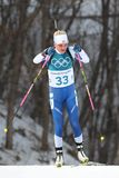 Kaisa Makarainen of Finland competes in biathlon Women`s 15km Individual at the 2018 Winter Olympic Games Stock Photo