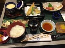 Kaiseki matställe på Kyoto Japan arkivfoto