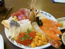 Kaisendon(Seafood rice) Royalty Free Stock Image