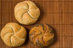 Kaiser bread roll with seeds Stock Images