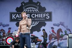 Kaiser Chiefs. The Kaiser Chiefs, the indie rock band from Leeds, UK, perform at the Nibe Festival 2011, an annual music festival located in northern Jutland royalty free stock photos