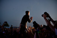 Kaiser Chiefs band in concert at FIB Festival Royalty Free Stock Photo