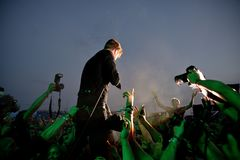 Kaiser Chiefs band in concert at FIB Festival Royalty Free Stock Images
