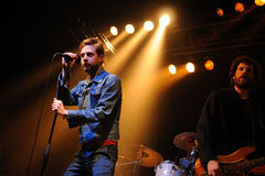 Kaiser Chiefs (British indie rock) performs at Razzmatazz Clubs royalty free stock images