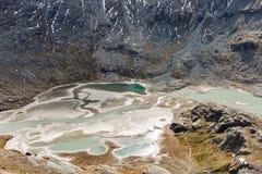 Kaiser Franz Josef glaciär Grossglockner österrikiska fjällängar arkivbild