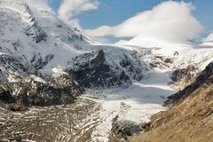 Kaiser Franz Josef glaciär Grossglockner österrikiska fjällängar arkivfoton