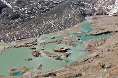 Kaiser Franz Josef glaciär Grossglockner österrikiska fjällängar fotografering för bildbyråer