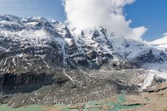 Kaiser Franz Joseph glaciär Grossglockner österrikiska fjällängar Royaltyfri Foto