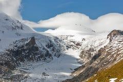 Kaiser Franz Joseph glaciär Grossglockner österrikiska fjällängar Arkivfoto