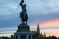 Kaiser Franz Joseph mim estátua Fotos de Stock Royalty Free
