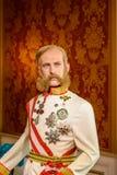 Kaiser Franz Joseph von Osterreich Figurine At Madame Tussauds vaxmuseum Royaltyfria Bilder