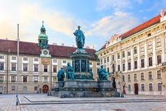 Kaiser Franz zabytek w Hofburg, Wiedeń, Austria zdjęcie stock