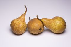 Kaiser golden pear, juicy snack. Kaiser golden pear, juicy sweet delicious snack stock photography