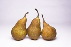 Kaiser golden pear, juicy snack. Kaiser golden pear, juicy sweet delicious snack royalty free stock photo