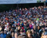 Kaiser Half Marathon Start. Massed start of the Kaiser Permanente San Francisco Half Marathon Stock Photography