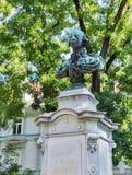Kaiser Joseph II statue in park, Graz, Austria Stock Images