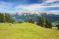 Kaiser Mountains, Austria Stock Photography