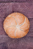 Kaiser roll bread Royalty Free Stock Images