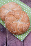 Kaiser roll bread Royalty Free Stock Photo