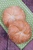Kaiser roll bread Stock Images