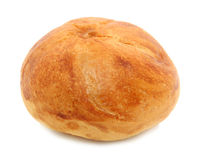 Kaiser Roll Isolated Over White Royalty Free Stock Image