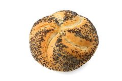 Kaiser roll with poppy seed Royalty Free Stock Image
