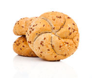 Kaiser roll with sesame seeds Stock Images