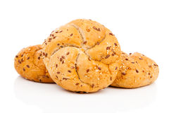 Kaiser roll with sesame seeds Stock Photo