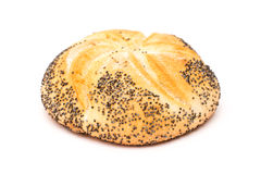 Kaiser Roll With Poppy Seeds Royalty Free Stock Photography