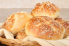 Kaiser Rolls Closeup Royalty Free Stock Image