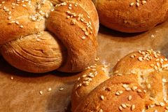 Kaiser rolls - fresh pastry - fresh buns Royalty Free Stock Photos