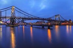 Kaiser Wilhelm Bridge i Wilhelmshaven Arkivfoto