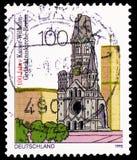 Kaiser Wilhelm Gedächtniskirche, Erinnerungskirche, Berlin, Jahrhundert von Kaiser Wilhelm Memorial Church, Berlin-serie, circa  stockfotos