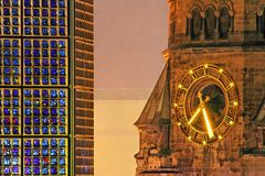 Kaiser Wilhelm Memorial Church Stock Images