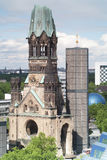 Kaiser Wilhelm Memorial Church in the afternoon, Berlin, Germany. Elevated view of the Kaiser Wilhelm Memorial Church in the afternoon, Berlin, Germany Royalty Free Stock Photo
